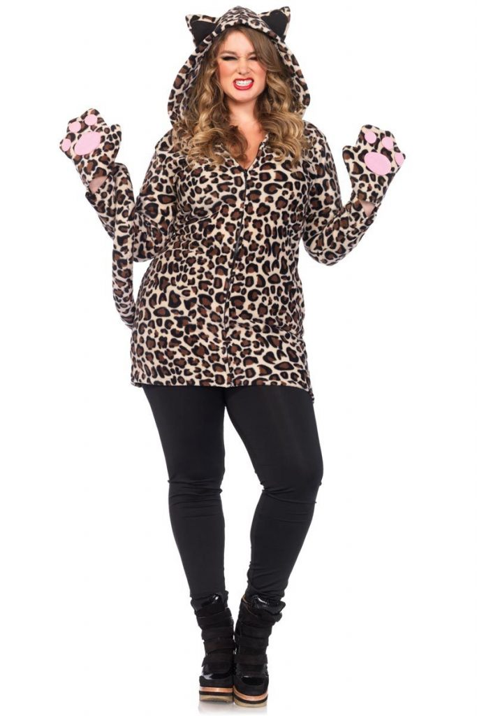 Plus Cozy Leopard Costume 1x-4x
